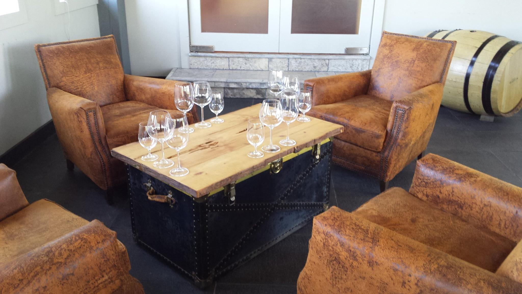 Get to Domaine Quaylus in a charter bus rental, and taste their wine offerings in their cozy tasting corner.