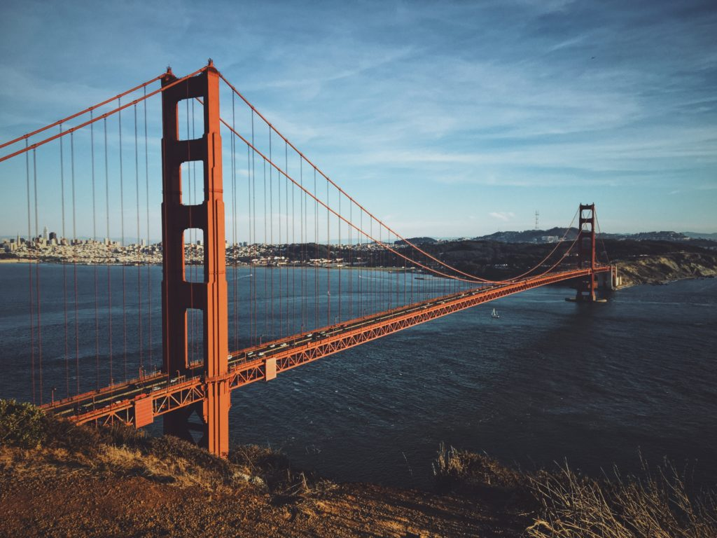 Where to park a charter bus rental at the Golden Gate Bridge San Francisco.