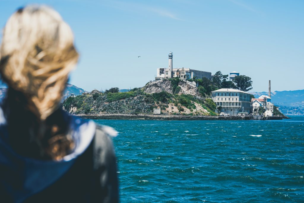 Where to park your San Francisco charter bus rental near Alcatraz.