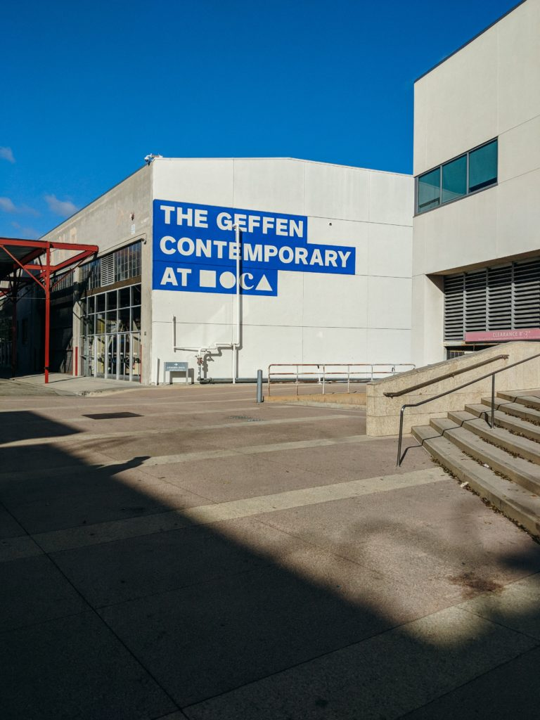 Where to park your charter bus rental at the Museum of Contemporary Art Los Angeles.