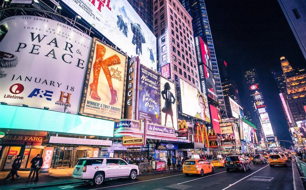 Broadway charter bus rentals