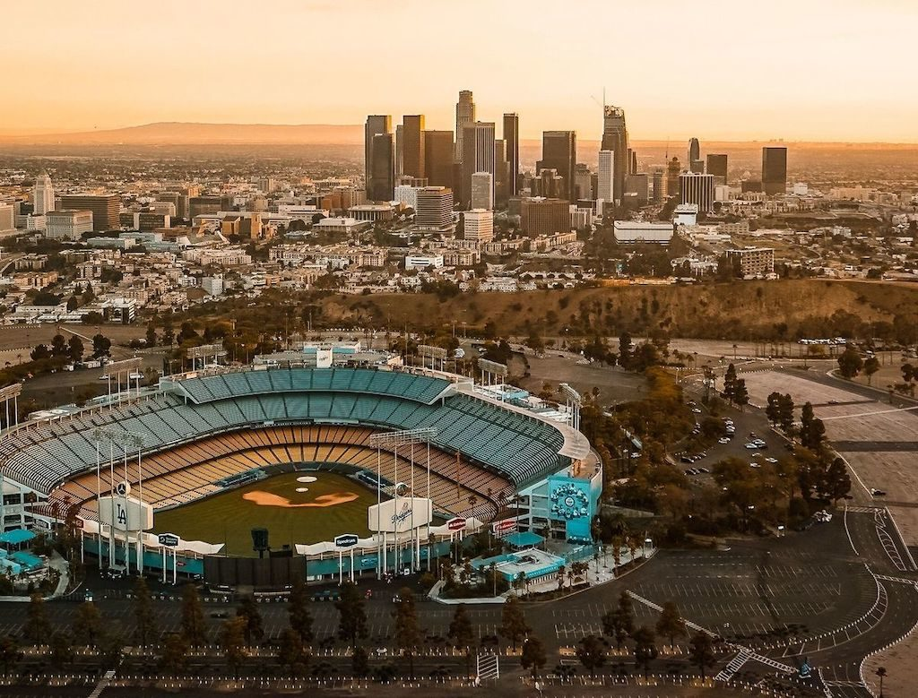 Rent a charter bus to Dodger's Stadium in Los Angeles