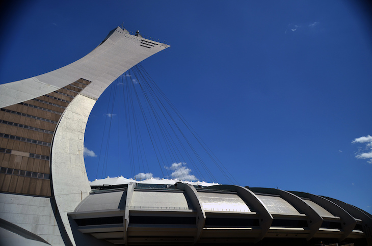 Rent a charter tour bus to Montreal's Olympic Stadium.