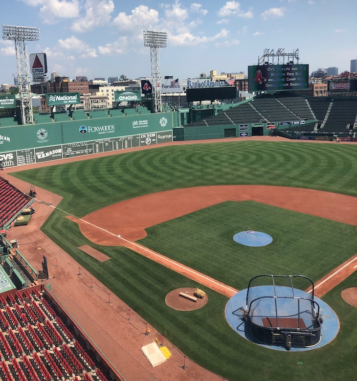 Rent a group tour bus to Fenway Park.