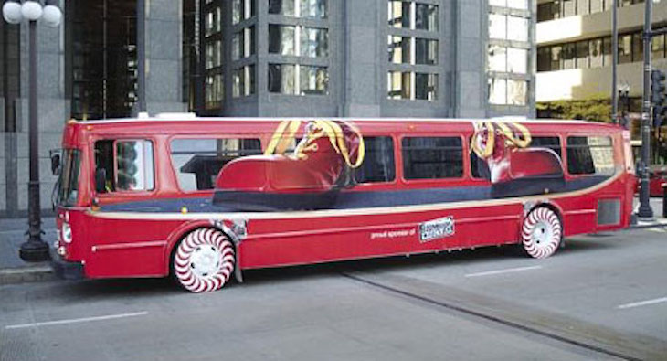 Tony Hawk's Boom Boom Huckjam Tour Bus is an awesome bus wrap ad.
