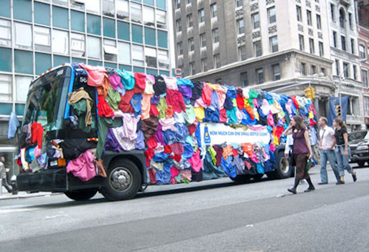 This creative laundry bus wrap ad is sure to spark your design creativity.