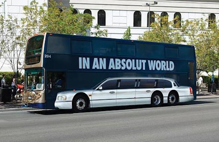 Absolut Vodka's creative take on the bus wrap will inspire your own design!