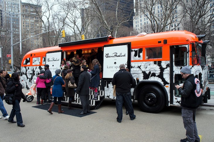 Kate Spade creatively repurposed a bus for a campaign.