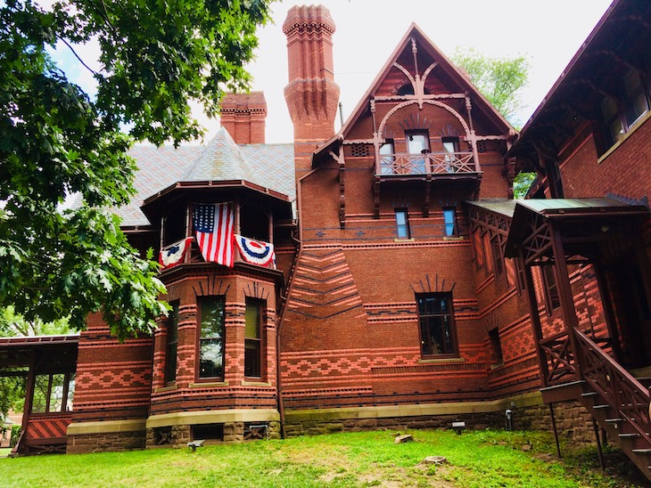Mark Twain's home in Hartford, Connecticut should be added to your American literature bus tour.
