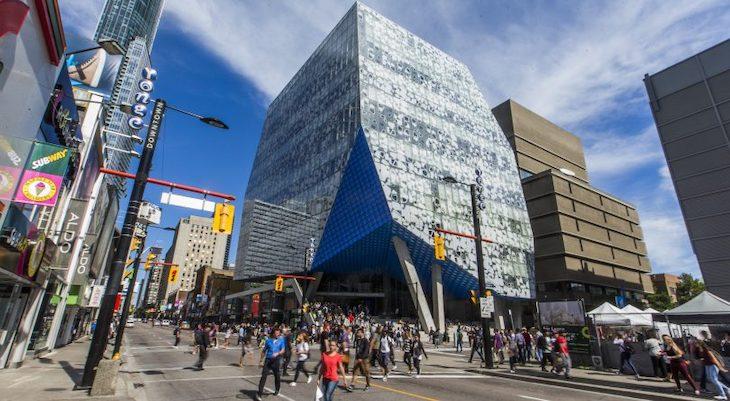 Take a tour of Ryerson University with a Toronto charter bus rental.
