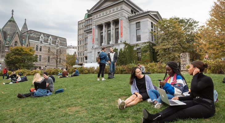 Rent a charter bus for your McGill University campus tour.