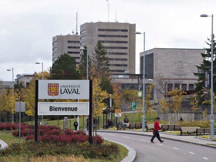 Rent a charter bus for your university campus tour of Laval University.