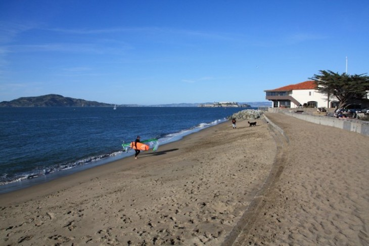 Rent a charter but to East Beach at Crissy Field, San Francisco.