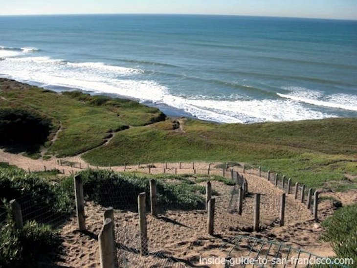 Rent a charter bus to Fort Funston Beach, San Francisco.
