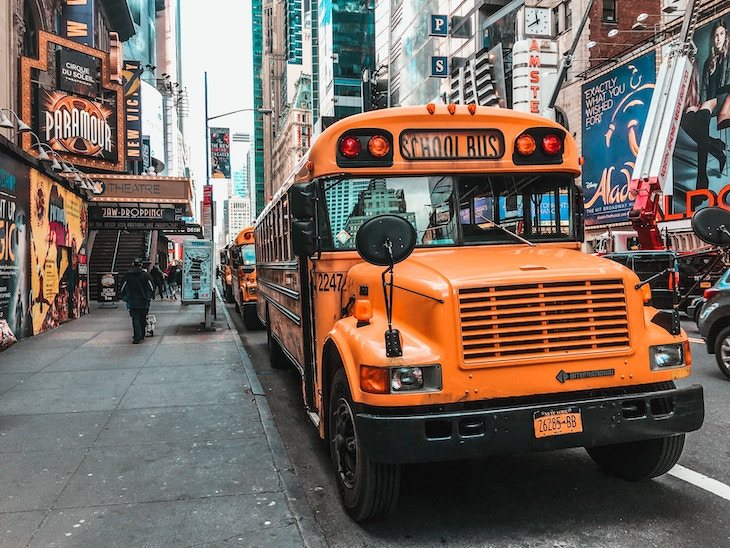 Rent a charter bus from NYC airports.