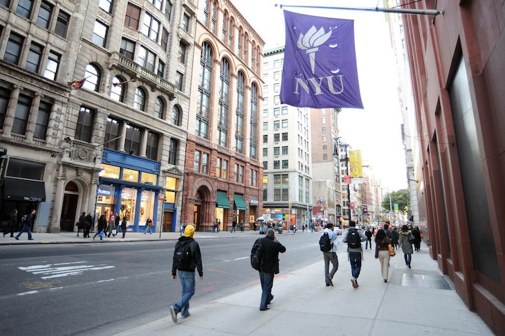 Rent a charter bus to NYU on your NYC university campus bus tour.