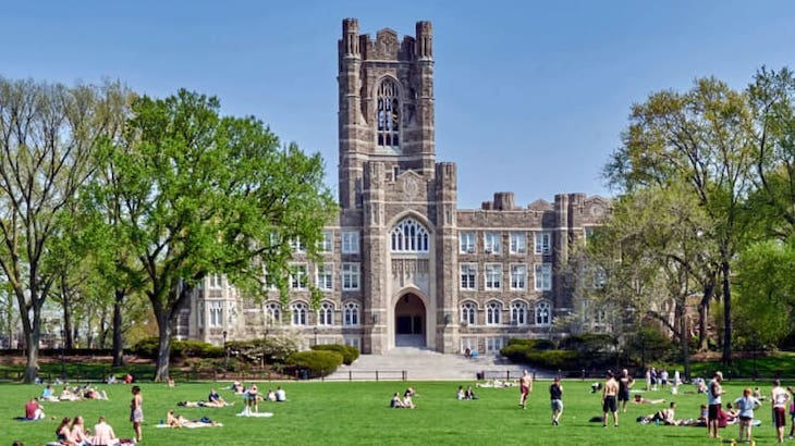Rent a charter bus to Fordham University on your NYC uni campus bus tour.