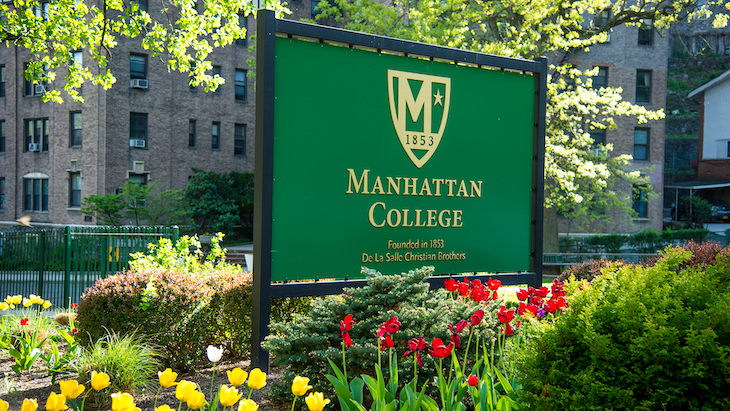 Rent a charter bus to Manhattan College on your NYC university campus bus tour.