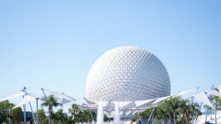 Rent a Miami charter bus to Epcot theme park at Disney World.