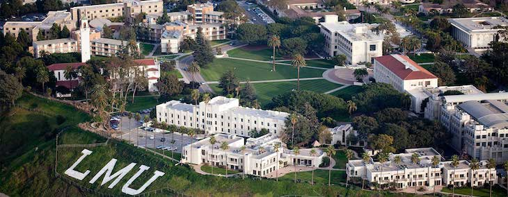 Charter bus rentals to Loyola Marymount University, California.