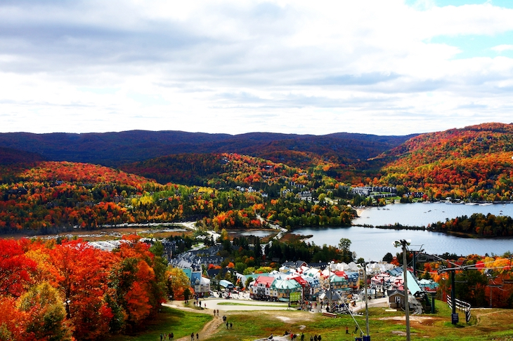 Rent a Montreal bus for your Mont Tremblant camping trip.