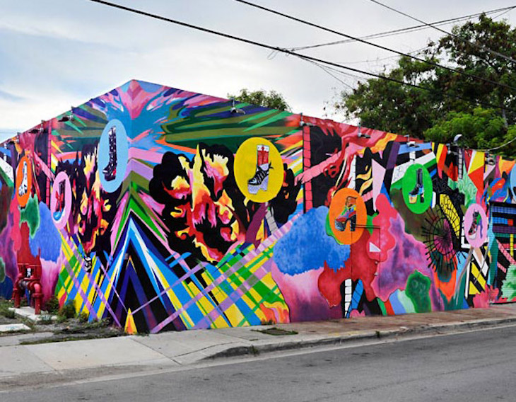 Rent a Miami bus to Wynwood Walls.