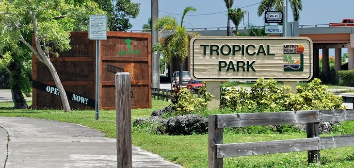 Rent a Miami charter bus to Tropical Park.