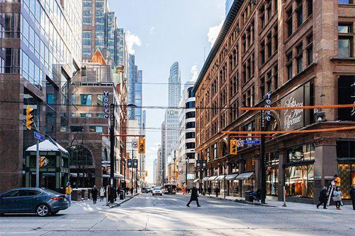 Charter bus rentals to Yonge Street Toronto.