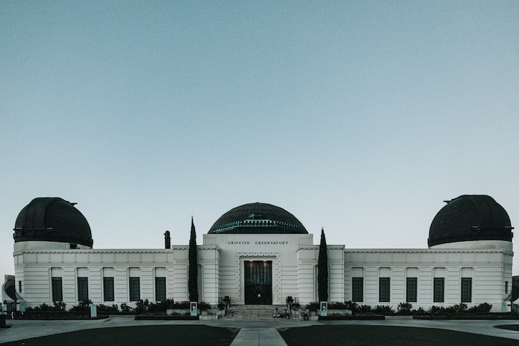 Rent a bus to Griffith Observatory, Los Angeles.