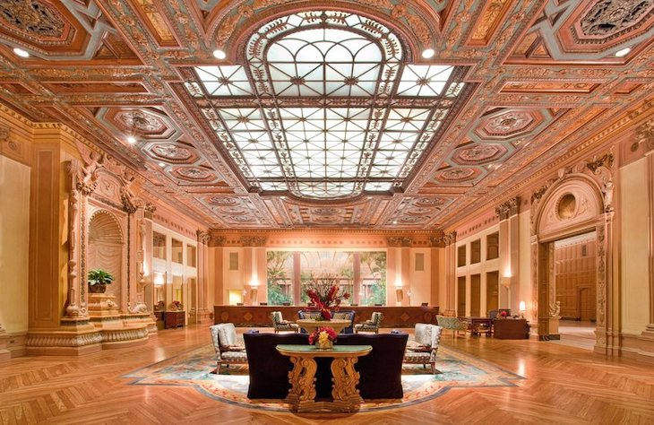 Rent a charter bus to the Millennium Biltmore Hotel, Los Angeles.