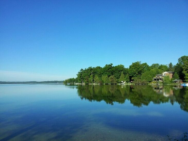 Rent a bus to Bass Lake campground, Ontario.