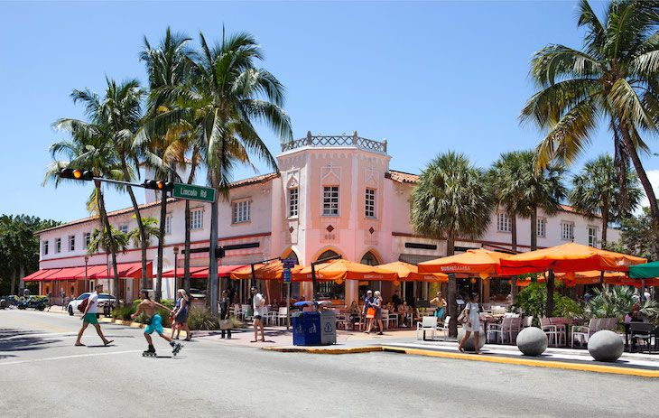 Rent a Miami charter bus to Lincoln Road Farmer's Market.