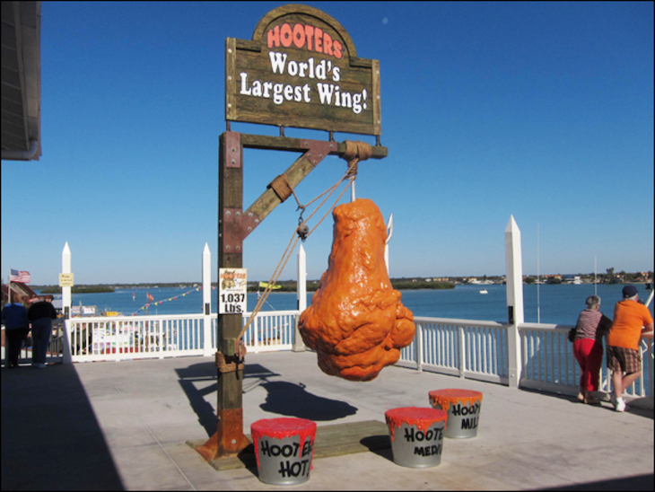 Charter bus rentals to the World's Largest Chicken Wing.