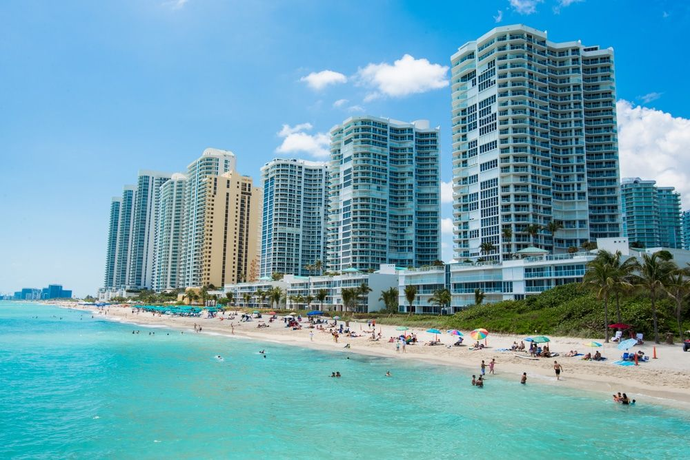Rent a Miami charter bus to Sunny Isles Beach.