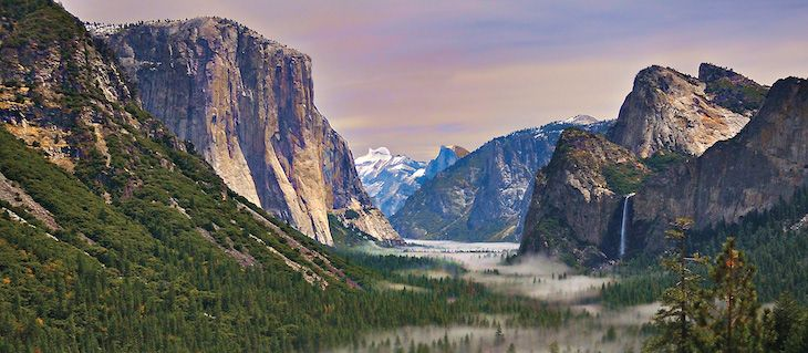 San Francisco charter bus rentals to Yosemite National Park.