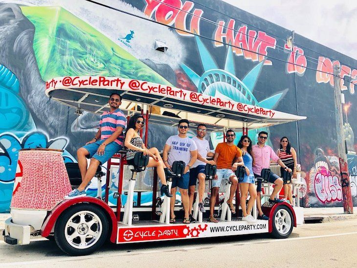 Miami charter bus rentals to Cycle Party.