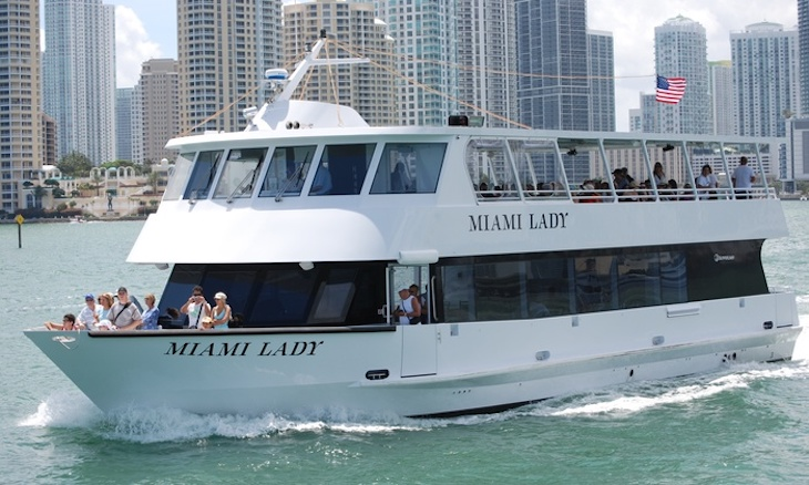 Miami charter bus rentals to Island Queen Cruises.