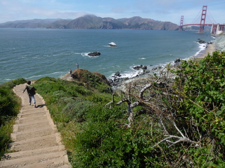 Batteries to Bluffs Trail San Francisco charter bus rentals.