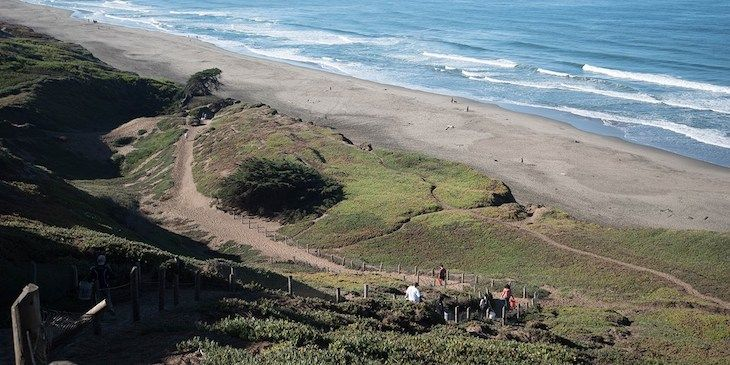 Fort Funston San Francisco charter bus rentals.