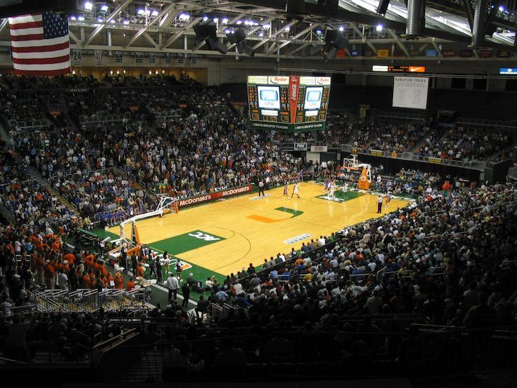 Miami charter bus rentals to Watsco Center.