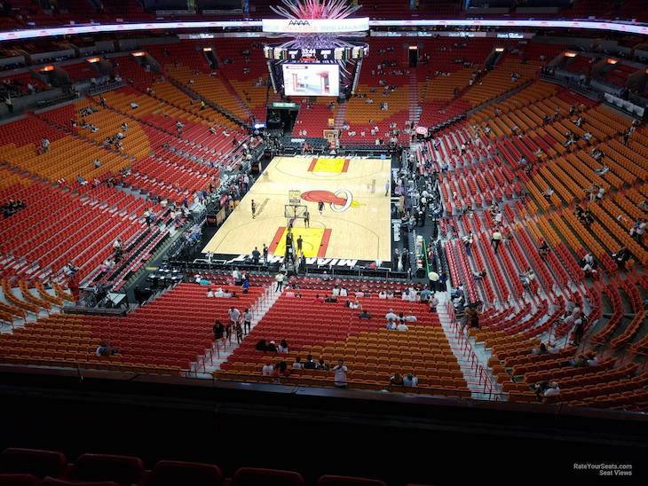 Miami charter bus rentals to AmericanAirlines Arena.