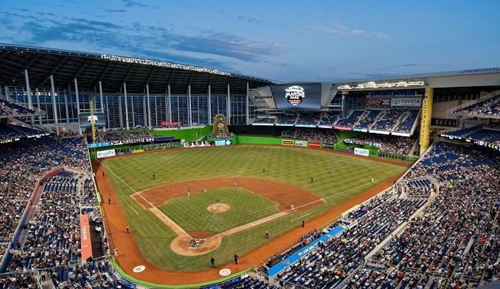 Miami charter bus rentals to Marlins Park.