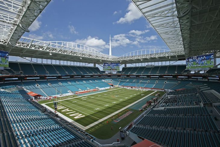 Miami charter bus rentals to Hard Rock Stadium.