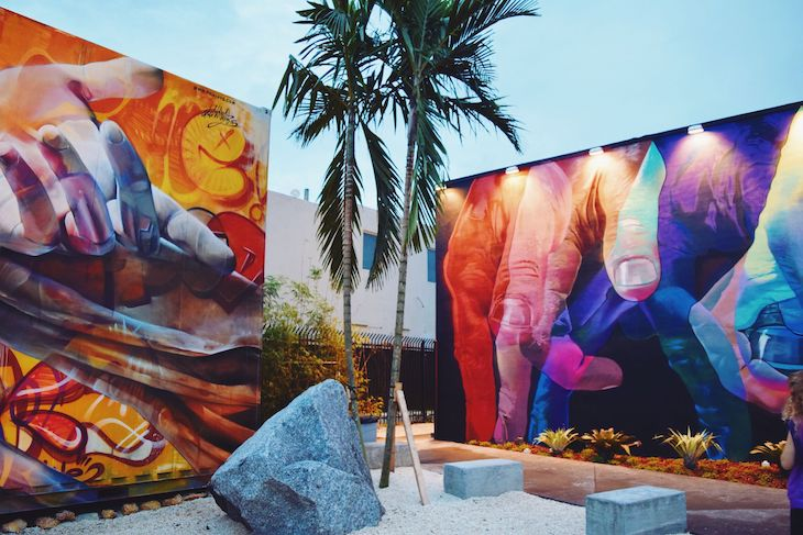 Miami charter bus rentals to Wynwood Walls.