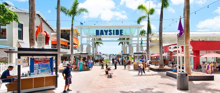 Miami charter bus rentals to Bayside Market.