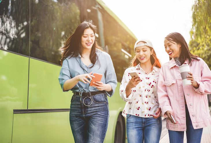 Student charter bus rentals for conferences.