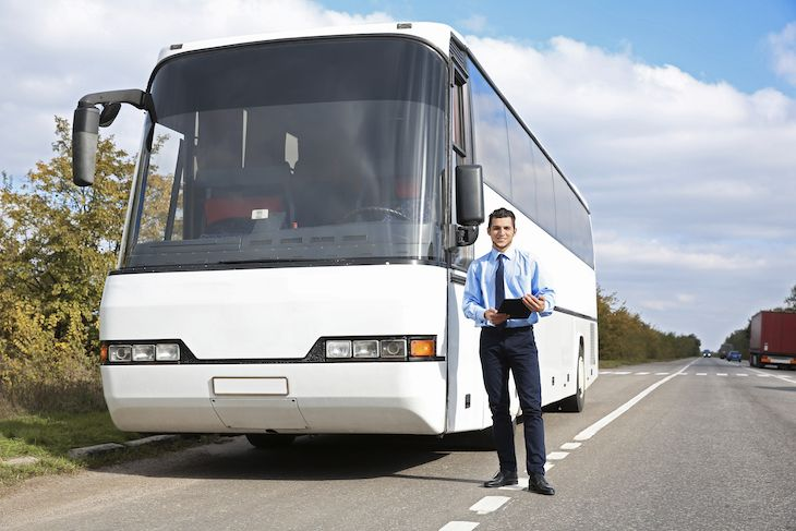 Suppliers of charter bus rentals.