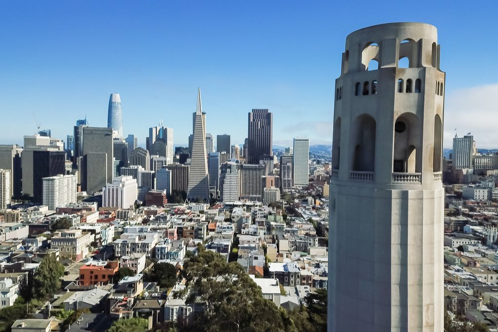 Charter a bus to Coit Tower