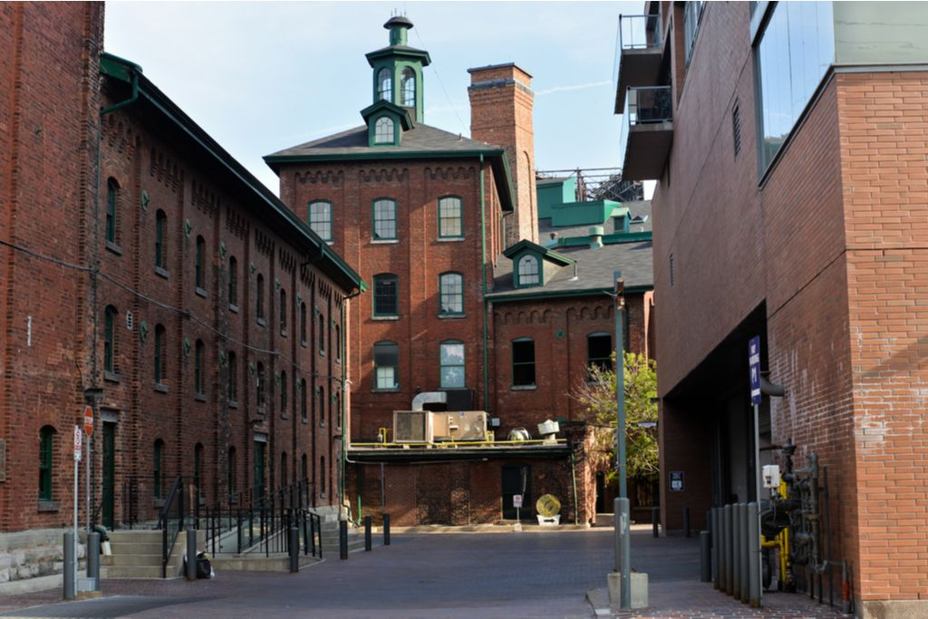 Charter a bus to Distillery District