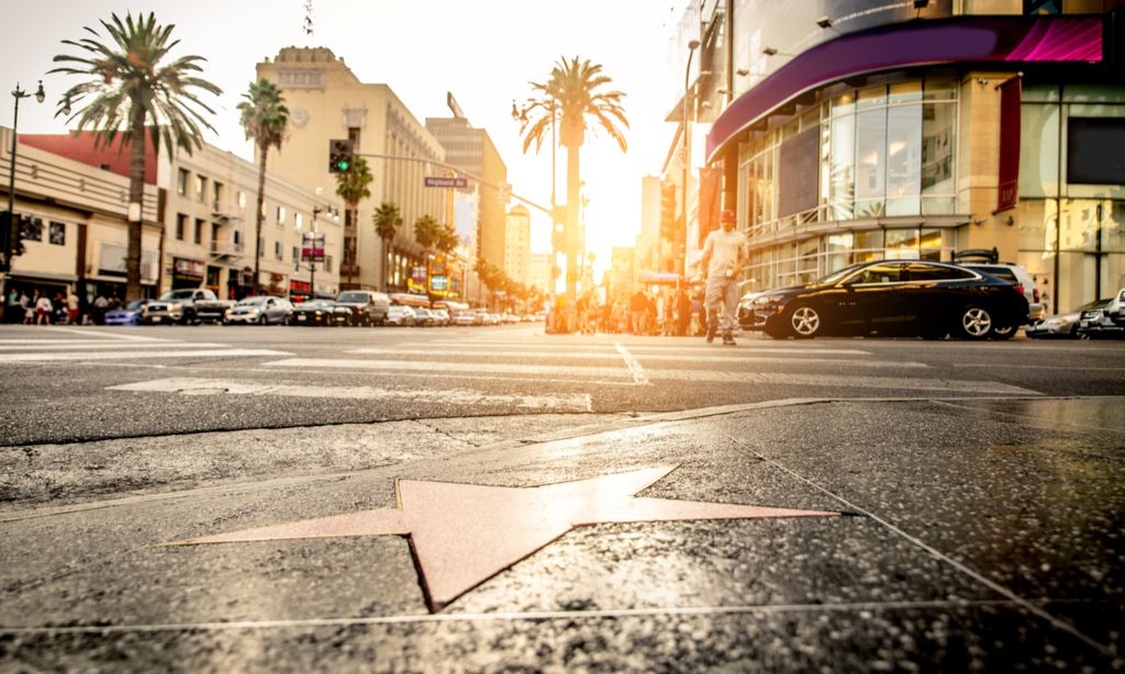 Hollywood Walk of Fame charter bus rentals